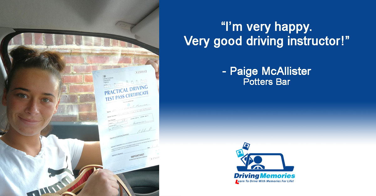 Driving Instructor Potters Bar - Paige